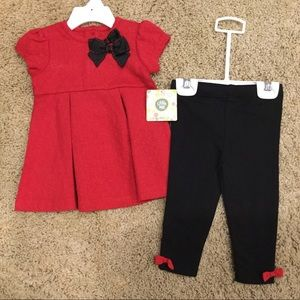 New with tag red dot dress w/legging Sz 12m